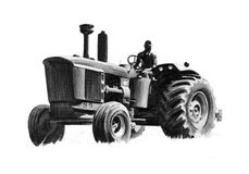 Tractor drawing Royalty Free Stock Photo