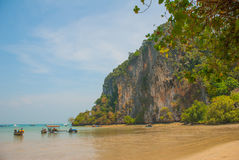 Tractor driven people. Peninsula of Railay. Krabi, Thailand. Royalty Free Stock Image