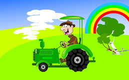 tractor-driver Stock Image