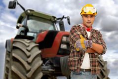 Tractor driver Stock Photos