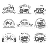 Tractor Driver Label Stock Photo