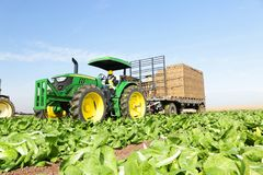 Tractor driver field worker royalty free stock photos