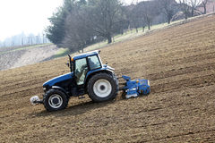 Tractor driver works Royalty Free Stock Image