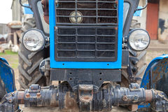 Tractor element. Agricultural tractor agrimotor element in rural spring time Royalty Free Stock Photo