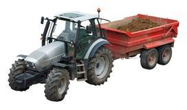 Tractor en aanhangwagen Stock Afbeeldingen