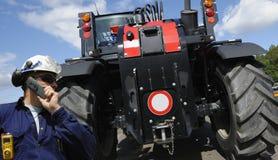 Tractor en bestuurder Royalty-vrije Stock Fotografie