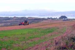 Tractor en Bretaña Foto de archivo libre de regalías