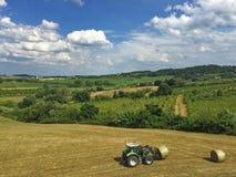 Tractor en el trabajo Imagen de archivo