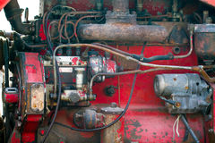 Tractor engine Stock Photography
