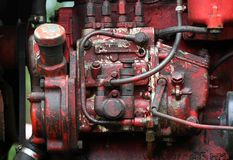 Tractor engine. Close-up photo Stock Photo