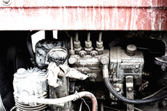Tractor engine Stock Photos