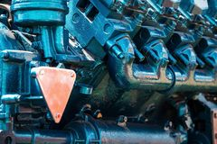 Tractor engine closeup Royalty Free Stock Images