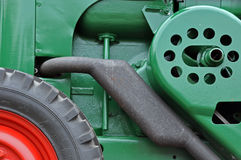 Tractor engine. With tyre detail Royalty Free Stock Photography