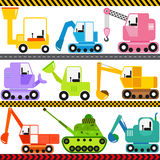 Tractor / Engineering Vehicles / Transportation. A set of cute Vector Icons : Tractor / Engineering Vehicles / Transportation Stock Images