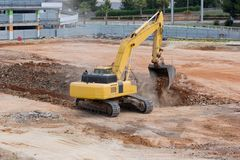 Tractor Excavating Stock Images