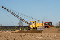 Tractor and excavator Stock Image