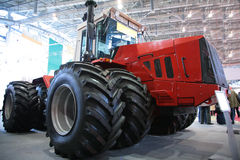 Tractor on exhibition Royalty Free Stock Photos