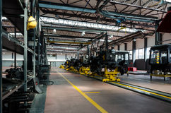 Tractor factory Royalty Free Stock Photography