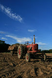 Tractor on the farm Stock Images
