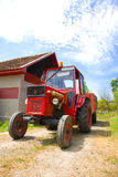 Tractor and farm Royalty Free Stock Photo