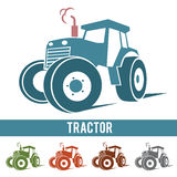 Tractor farm abstract icon logo  on white background.  Royalty Free Stock Photos