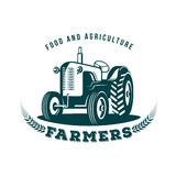 Tractor farm  emblem. Tractor farm vector. tractor emblem, logo. On white background Royalty Free Stock Photos