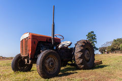 Tractor Farm Field Vintage Model Stock Photography