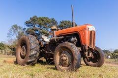 Tractor Farm Field Vintage Model Royalty Free Stock Photo