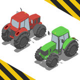 Tractor, farm machinery for Isometric world Royalty Free Stock Photos