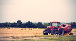 Tractor in Farm Stock Photography