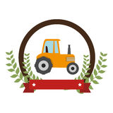 Tractor farm seal icon Stock Photos