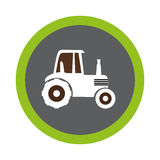 Tractor farm seal icon Stock Images