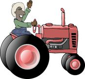 Tractor Farmer Stock Photography