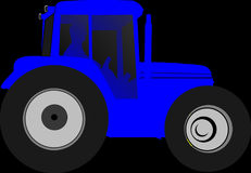 Tractor, Farmer, Drive, Blue Royalty Free Stock Photo