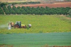 Tractor Farming Royalty Free Stock Photos