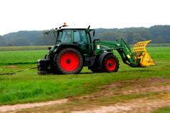 Tractor farming  netherlands. A photo of a tractor and farming in the netherlands Royalty Free Stock Images