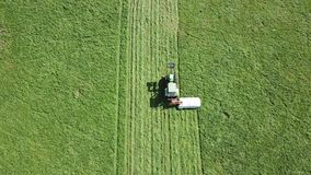 Tractor in the farmland stock footage