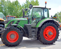 Tractor FENDT 718 Vario. SAINT HYACINTHE QC CANADA JULY 25 2015: Tractor FENDT 718 Vario. Fendt is a German manufacturer of agricultural tractors machines Royalty Free Stock Photos
