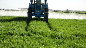 Tractor fertilize stock video