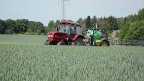 Tractor fertilizer stock footage