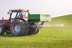 Tractor and fertilizer Stock Photos