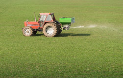 Tractor and fertilizer Stock Image