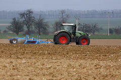 Tractor and field Stock Image