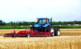 Tractor in field Royalty Free Stock Image