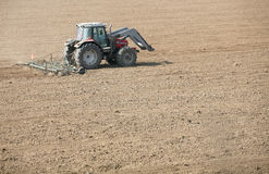 Tractor on field Stock Image