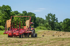 Tractor in Field Stock Image
