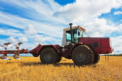 Tractor on the field Royalty Free Stock Image