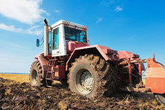 Tractor on the field Royalty Free Stock Photography