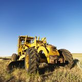 Tractor in field. Stock Photos