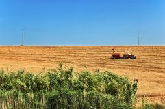 Tractor in field royalty free stock photos
